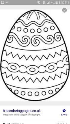 More Information Easter Egg Color Page