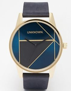 UNKNOWN Gold Urban Leather Strap Watch