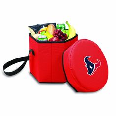 NFL Houston Texans Bongo Insulated Collapsible Cooler, Red