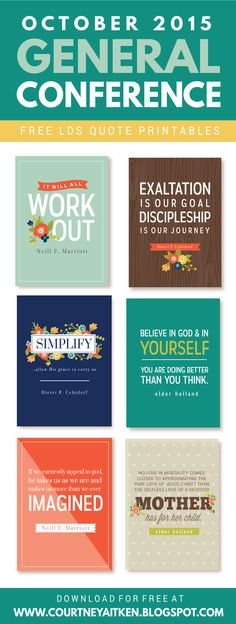 All Things Bright and Beautiful: 2015 General Conference FREE Printables