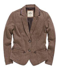 Cold Coffee Tweed Wool-Blend Blazer