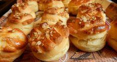 Szalonnás pogácsa - Sós sütik Hungarian Recipes, Hungarian Food, Canapes, Pretzel Bites, Baked Potato, Biscuits, Bakery, Food And Drink, Pizza