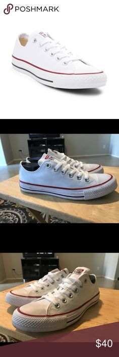 38fd3e674a3 CONVERSE CHUCK TAYLOR LO SNEAKER SZ 7.5 Tried on shoes displayed the All  Star knows no