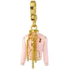 Juicy Couture Pink flyer jacket charm