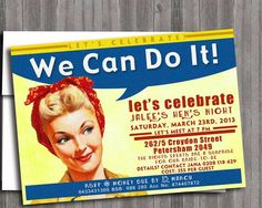 Image result for 1940s party invitations