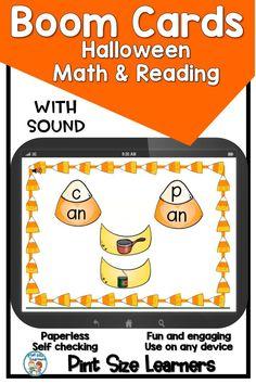 Picture Identification, Halloween Words, Second Grade Teacher, Reading Intervention, Different Words, Cvc Words, Halloween Activities, Word Families, Word Work