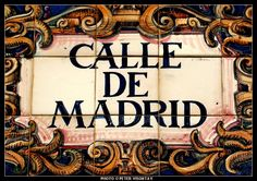 Spain Picture: Street sign in Madrid Street
