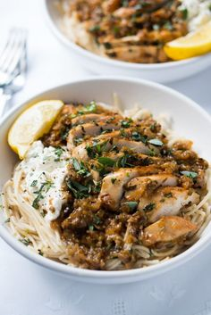 tarragon chicken pasta from gnom gnom on foodiecru Easy Chicken Dinner Recipes, Entree Recipes, Lunch Recipes, Healthy Dinner Recipes, Cooking Recipes, Healthy Dinner Options, Cooking Videos, Yummy Recipes, Dinner Dishes