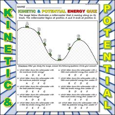 worksheet kinetic vs potential energy 2 this is a short quiz worksheet ...