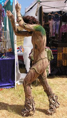 This gives me a lot of faith for how the body suit will look for my secret groot idea Halloween Cosplay, Halloween Fun, Cosplay Costumes, Halloween Costumes, Dryad Costume, Tree Costume, Larp, Renaissance, Hair Shows