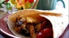 Breakfast mushroom Burritos.
