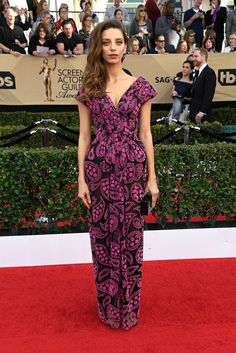 Angela Sarafyan in Zac Posen - Every Best Dressed Look from the 2017 SAG Awards  - Photos