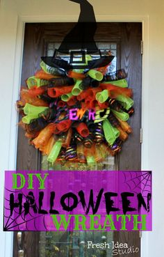 halloween mesh wreaths - Google Search