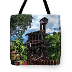 Coal Tipple Tote Bag featuring the photograph Coal Tipple - Cumbres And Toltec Railroad by Debra Martz