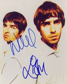 Liam and Noel Gallagher Fighting | Oasis Liam Noel Gallagher Signed Autographed 8x10 Photo