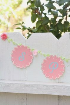 Spring Flower Banner: Made from Paper Coasters