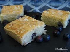 Lemon and Blueberry Bakewell Tart Squares Recipe - a delicious variation on traditional Bakewell Tarts, these tasty squares are easier to make and serve.