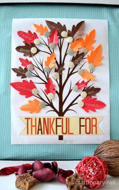 thankful tree printable for bulletin board