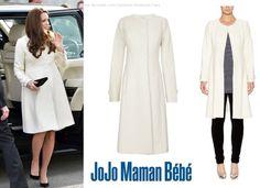 Kate Middleton, Duchess of Cambridge - JoJo Maman Bébé Princess Wool Coat (£147.23).