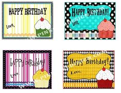Free Printable Birthday Cupcake Gift Tags Via TipJunkie Card