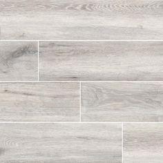 MSI Antoni Platinum x Porcelain Wood Look Tile in Gray Wood Look Tile Floor, Grey Wood Tile, Wood Tile Floors, Bathroom Floor Tiles, Grey Flooring, Wall Tiles, Flooring Ideas, White Kitchen Flooring, Tile Floor Kitchen