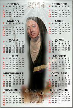 Calendario de la Venerable María Antonia de Paz y Figueroa, fundadora laica argentina.