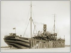 Bewildering Stripes in Ship Camouflage