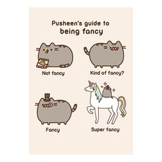 PUSHEEN GUIDE TO BEING FANCY GREETING CARD BIRTHDAY GIFT APP CAT UNICORN  KITTEN