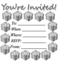 Presents Party Invitation Free Printable Invitations, Party Printables, Party Invitations, Free Printables, Youre Invited, Sign I, Rsvp, Presents, Fun