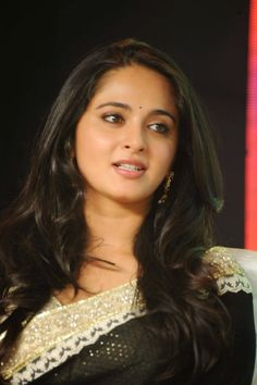 Actress Anushka Shetty Latest Cute Hot Exclusive Black Saree Navel Show Spicy Photos Gallery At Lingaa Movie Audio Success Meet