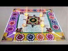 Fancy Coloured Rangoli for Diwali| DIY Guided Rangoli by Shital Mahajan. - YouTube
