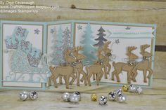Z-Fold Card made with Stampin'Up Santa's Sleigh stamp set and thinlits Bundle.
