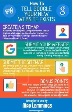 Not Getting Found on Google? How to Tell Them Your Website Exists [Infographic]