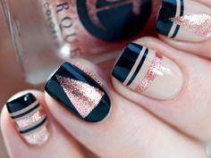 New Year Nails - Striping tape nail art by Paulina's Passions
