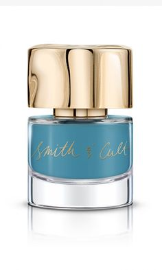 Quirky, opaque sky blue nail polish that's equally striking against dark skin and light ==