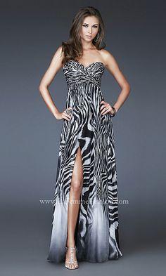 Zebra Printed Short Prom Dress | Zebra print, Prom and Clothes