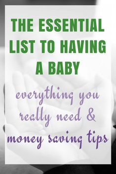 The Essential list to having a baby – Finance tips, saving money, budgeting planner Baby Design, Baby Names Flowers, Baby Essential List, Baby On A Budget, Money Plan, Budget Planer, Newborn Essentials, Tips & Tricks, Need Money