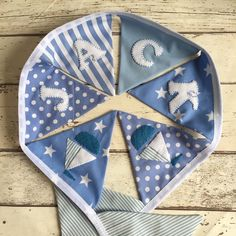 Nautical baby boy bunting was sent out last week, I have got girl's bunting to share with you soon! Make And Sell, How To Make, Nautical Baby, Bunting, Baby Boy, Nursery, Sewing, Fun, Garlands