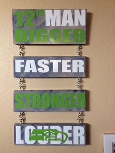 Hey, I found this really awesome Etsy listing at… Seahawks Fans, Seahawks Football, Seattle Seahawks, 12th Man, Home Signs, Boy Room, Craft Fairs, Wood Projects, Christmas Diy