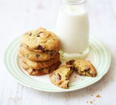A retro recipe for chocolate-studded biscuits with a soft squidgy middle - make plenty as they're guaranteed to be a hit!
