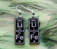 LiFe   periodic table earrings