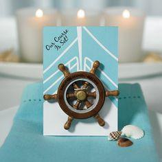 Our Course is Set Boat Wheel  Magnet -Shop on WeddingWire! Boat Wedding, Wedding Bubbles, Beach Wedding Favors, Destination Wedding, Wedding Reception, Wedding Ideas, Boat Wheel, Custom Playing Cards, Presentation Cards