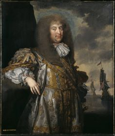 Henry Howard, 6th Duke of Norfolk, Gilbert Soest, ca. 1673; TC T00746 - incredible silver and gold metal thread in his outfit