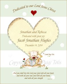 Baptism Or Baby Dedication Gift By Linda Paige TolisPersonalized