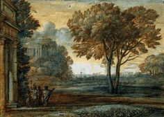 Claude Lorrain Paintings | Seascape with Aeneas on Delos