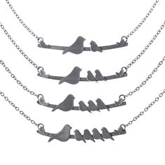 Mother Nestling Birds Necklace, $70, by Rhonda & Elijah Wyman
