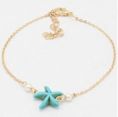 Women Gold/Silver Plated Starfish Sea star Anklet Bracelet Beach Foot Jewelry