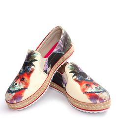 Look at this Honeysuckle Fancy Fox Slip-On Espadrille on #zulily today!