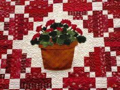 Secrets to growing geraniums  Jeanne Sammons geranium quilt