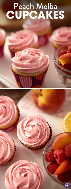 Peach Melba is a timeless dessert that features peaches, raspberries and vanilla ice cream. Classic Peach Melba demands perfectly ripe, juicy peaches, which are in season for just a few short weeks each year, but with Treatology Juicy Peach Flavor, you can make perfect Peach Melba cupcakes all year long. Beating raspberries into the icing adds a pretty color as well as flavor. Recipe makes 2 dozen cupcakes.